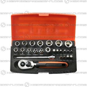 Bahco Socket Set 25 Piece 1/4in Drive SL25