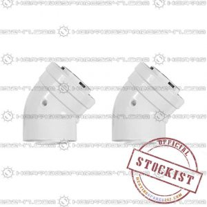 Ariston 45 Deg Flue Bend (pack of 2) 3318076
