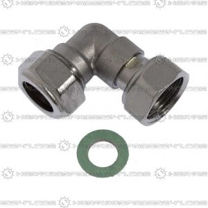 "Heatline 15mm x 1/2"" Swivel Hot Outlet Elbow D002160280-HOE"