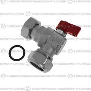 "Heatline 22mm x 3/4"" Swivel Heating Flow Valve D002160280-22RH"