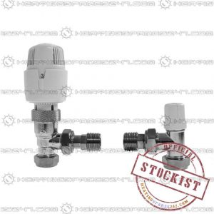 Inta 15mm Thermostatic Radiator Valve & Lockshield A Class  15TWINA