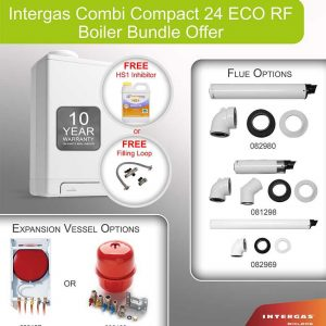Intergas Combi Compact 24 ECO RF Boiler Bundle - 049517