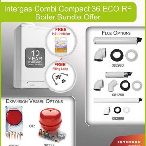 Intergas Combi Compact 36 ECO RF Boiler Bundle - 049637