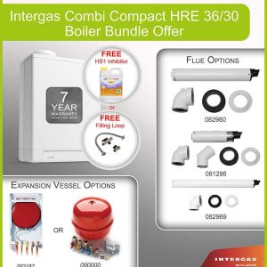Intergas Combi Compact HRE 36/30 Boiler Pack 049628