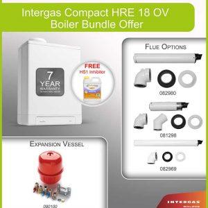Intergas Compact HRE 18 OV Boiler Bundle 049547
