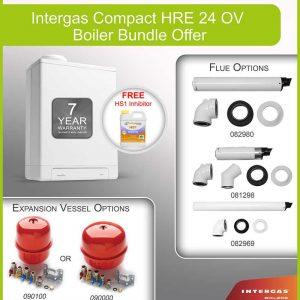 Intergas Compact HRE 24 OV Boiler Bundle 049607