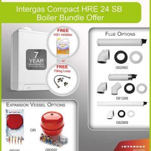 Intergas Compact HRE 24 SB Boiler Bundle 049588