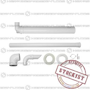 Potterton Plume Displacement Kit with 1M Extension and Clips (white) 7225717