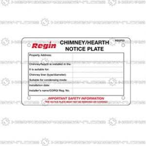 Regin Chimney/Hearth Notice Plate REGP33