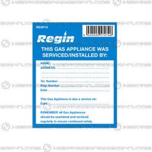 Regin Gas Appliance Serviced Sticker REGP10