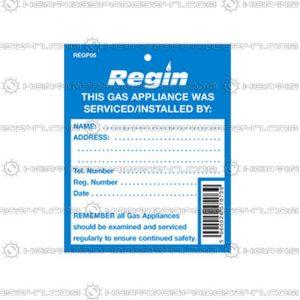 Regin Gas Appliance Serviced Tag REGP05