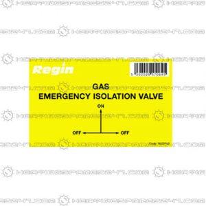 Regin Gas Isolation Valve Sticker REGP43