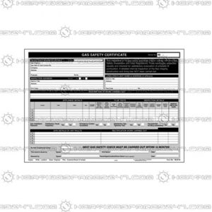 Regin Gas Safety Certificate Pad REGP46