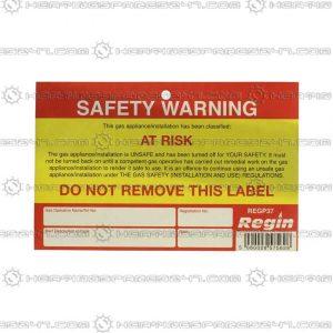 Regin Safety Warning - At Risk Sticker/Tag REGP37